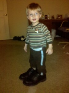 Jack in Daddy's shoes
