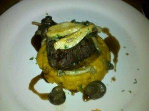 Beef tenderloin at Park Restaurant on Henderson in Dallas