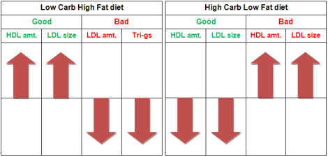 Comparing Low Carb and High Carb diets for heart disease risk factors