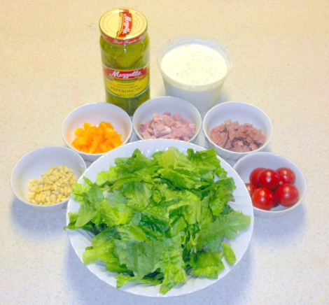 Primal Salad (mise en place)
