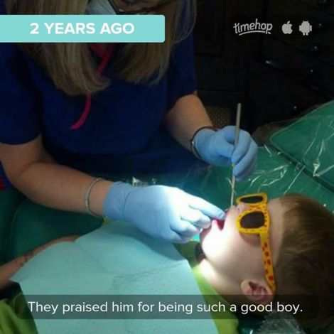 One of the last pictures I have of Jack, at his first dentist appointment two days before he died.